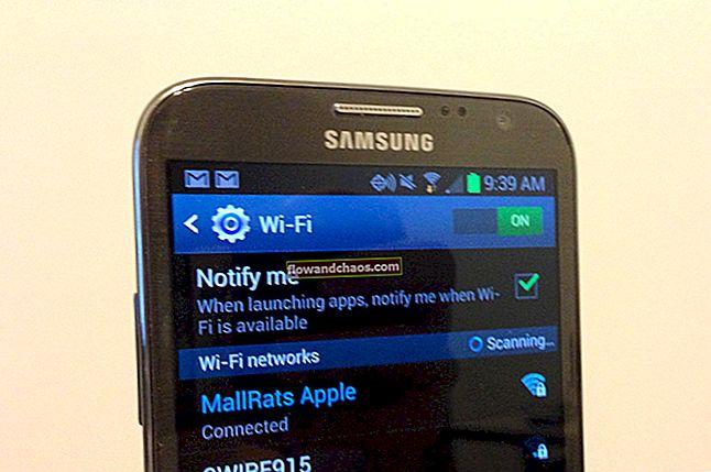 Sådan repareres ikke registreret på netværk på Samsung Galaxy / Android