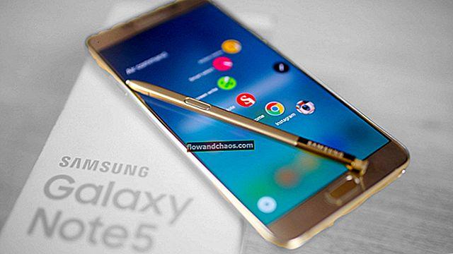 Samsung Galaxy Note 5-tastatur fungerer ikke - Sådan løses det