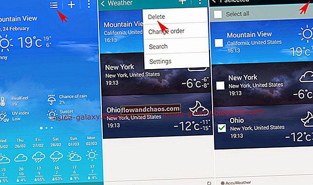 Sådan tilføjes og slettes widgets på Samsung Galaxy Note 4