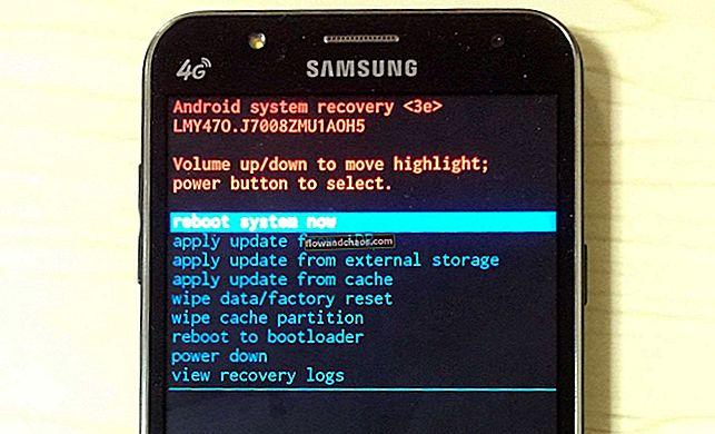 כיצד לאתחל את Samsung Galaxy למצב התאוששות