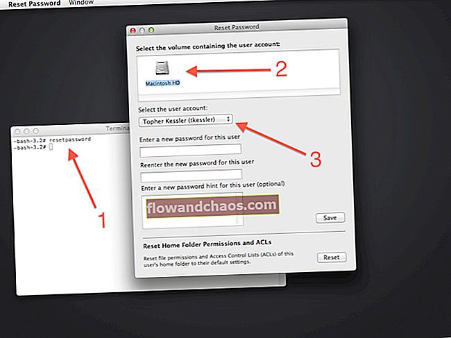 Kako resetirati Mac lozinku pomoću terminala